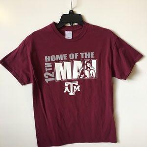 Texas A & M 12th Man T Shirt Sz M